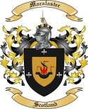 Macalaster Family Coat of Arms from Scotland