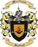 Macallaster Family Crest from Scotland