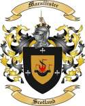 Macallister Family Crest from Scotland