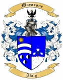 Macarone Family Crest from Italy
