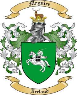 Maguire Family Crest From Ireland By The Tree Maker