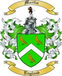 Martin Family Coat of Arms from England2