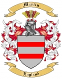 Martin Family Coat of Arms from England
