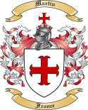Martin Family Coat of Arms from France2