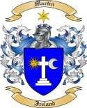 Martin Family Coat of Arms from Ireland