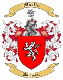 Martin Family Coat of Arms from Portugal