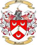 Martin Family Coat of Arms from Scotland