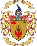 McDaniel Family Coat of Arms from Scotland