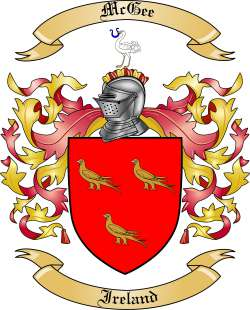 Mcgee Family Crest From Ireland By The Tree Maker