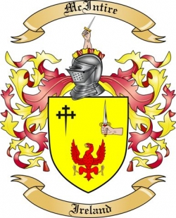 mcintire family crest from ireland by the tree maker