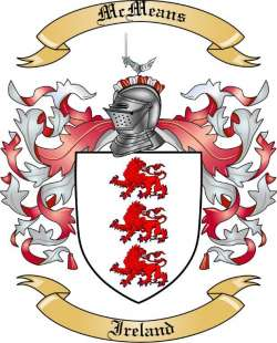 McMeans Family Crest from Ireland