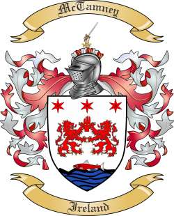 McTamney Family Coat of Arms from Ireland