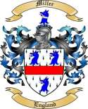 Miller Family Coat of Arms from England