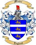 Minter Family Crest from England