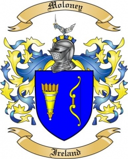 Moloney Family Coat of Arms from Ireland