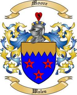 Moore Family Coat of Arms from Wales