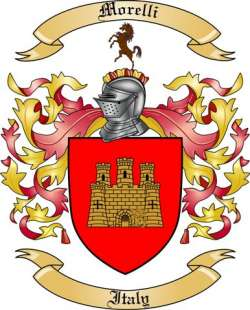 Italy Morelli Coat Of Arms Family Crest