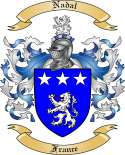 Nadal Family Coat of Arms from France