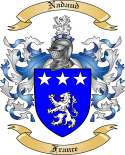 Nadaud Family Coat of Arms from France