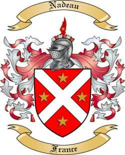 nadeau family crest from france by the tree maker