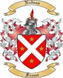 Nadeau Family Crest from France