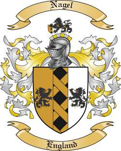 Nagel Family Crest From England By The Tree Maker