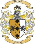 Nailor Family Crest from Ireland
