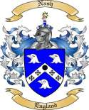 Nash Family Crest from England