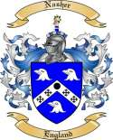Nasher Family Coat of Arms from England