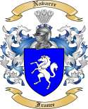 Navarre Family Coat of Arms from France