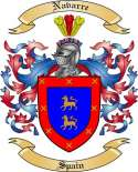 Navarre Family Crest from Spain