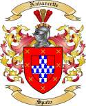 Navarrette Family Coat of Arms from Spain