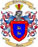 Navarrolas Family Crest from Spain