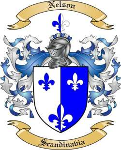 Nelson Family Crest From Scandinavia By The Tree Maker