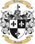 Nelsons Family Coat of Arms from Ireland