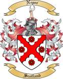 Neper Family Coat of Arms from Scotland