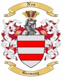 Nes Family Crest from Germany