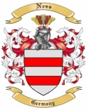 Ness Family Coat of Arms from Germany