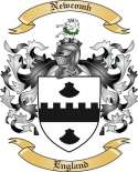 Newcomb Family Coat of Arms from England