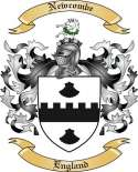Newcombe Family Coat of Arms from England