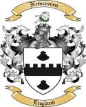 Newcomen Family Coat of Arms from England
