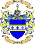 Newsam Family Crest from England