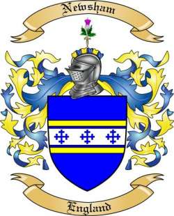 Newsham Family Coat of Arms from England