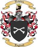 Newton Family Coat of Arms from England