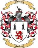 Newton Family Crest from Ireland