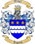 Nichol Family Crest from England