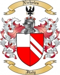 Nicholes Family Coat of Arms from Italy