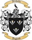 Nicholls Family Coat of Arms from England2