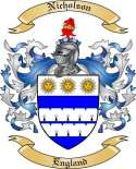 Nicholson Family Crest from England