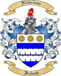 Nicholson Family Crest from Ireland